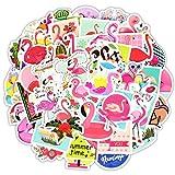 StickerFactory 50 Piezas de Pegatinas de Flamenco Adhesivos de Graffiti Impermeables, para Coche, computadora portátil, monopatín