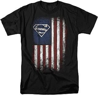 Superman Vintage Patriotic American Flag S Shield T Shirt & Stickers