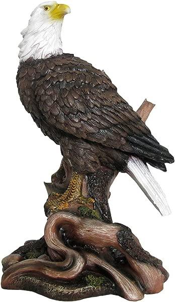 美国秃鹰雕像野生鸟类雕塑作为爱国装饰品或办公室和乡村小屋家居装饰和装饰礼物给鹰迷