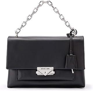 حقيبة كتف سيسي ميديوم للنساء من مايكل كورس من الجلد، لون اسود مقاس واحد
