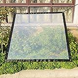 Lona de sombra de jardín, parasol, impermeable, cubierta de invernadero para plantas suculentas, película de plástico PE transparente, espesante para la planta y flores de jardín, balcón o ventana