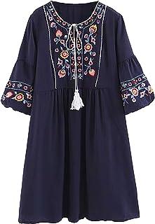 ac5d2608d Amazon.es: vestidos mexicanos bordados - Envío internacional elegible