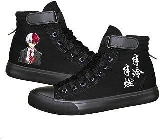 My Hero Academia Izuku Midoriya Katsuki Bakugo Shoto Todoroki Chaussures en toile lumineuses pour cosplay