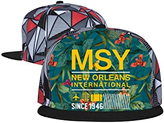 Unisex Summer Adjustable Baseball Flat Cap MSY New Orleans Airport Code Trucker Hat Sports Hip Hop Cool Hat