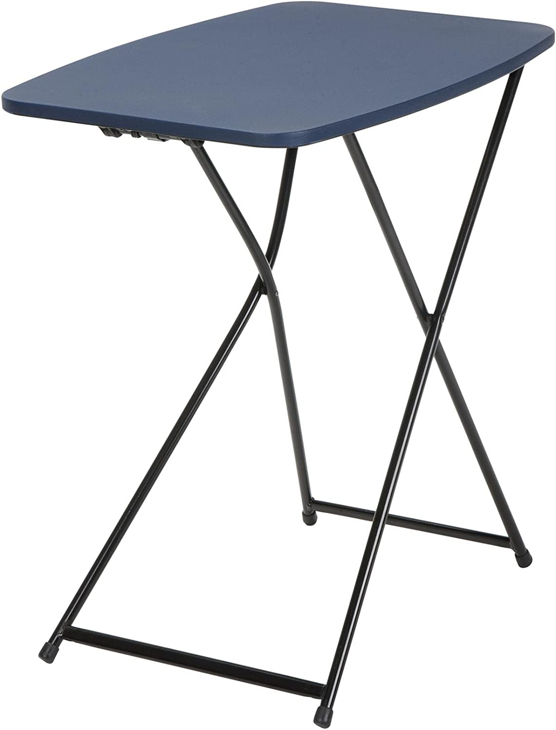 Cosco Products 37129DBK2E 18  x 26  Indoor Outdoor Adjustable Height Personal Folding Tailgate Table, Dark bluee, 2 Pack
