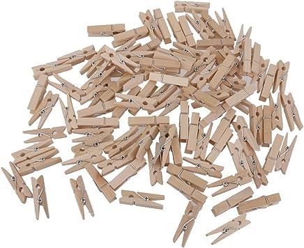 Generic 100pcs Mollette Di Legno Vestiti Naturali Clip Dimensione 35 * 5mm - 30*4mm