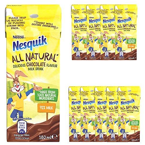 10 x 180ml Natural Chocolate Milk Drink Cocoa Cinamon Calcium Protein