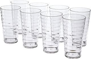 Splash 18-ounce Plastic Tumblers | set of 8 Clear