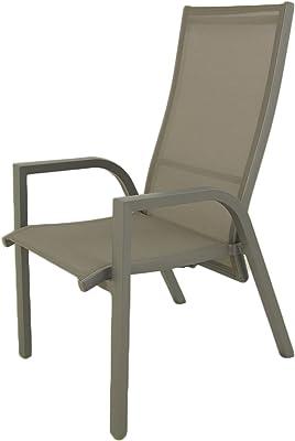 Juego de sillas para jardin textileno Porto- Phoenix - gris ...