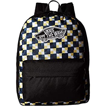 Vans Yellow Black Checkerboard Realm Backpack