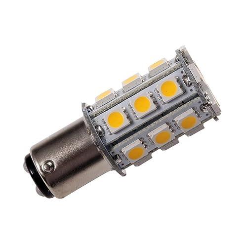 GRV Ba15d 1142 High Bright Car LED Bulb 18-5050SMD DC12V Warm White Pack of 10