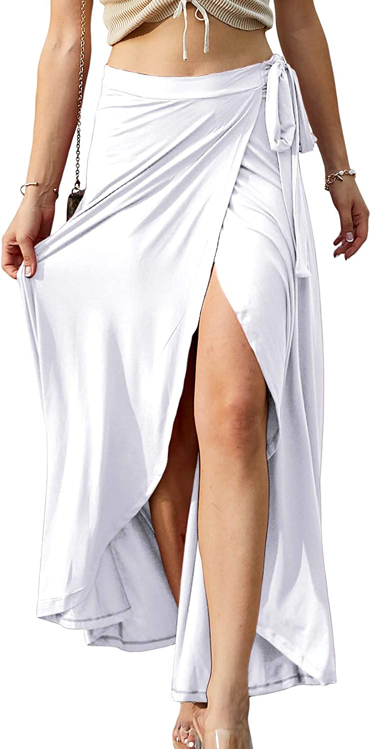 Doublju Womens Waist Purchase Animer and price revision Strap Tie Skirt Long Point Up