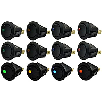 ON-OFF Switch azul HOTSYSTEM 10 x 12V 20A interruptor para coches barco con LED indicador Luz