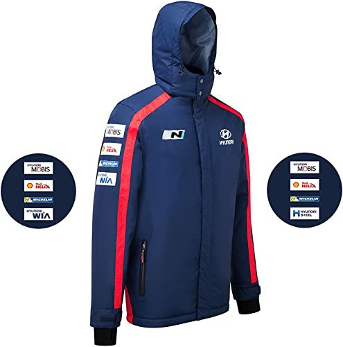 Hyundai Motorsport Team Replica Heavyweight Veste WRC Bleu Manteau d'hiver