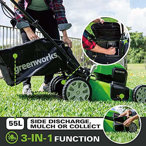 Greenworks GD24X2LM46SPK4X Features