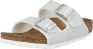 Birkenstock Arizona Kids Blanc (Cosmic Sparkle White) Birko-Flor Enfant Slides Sandales