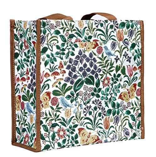 Signare Tapisserie Einkaufstasche, Shopper, Tragetasche, Shopper Damen Groß, Umhängetasche Damen mit Garten Designs (with Garden Designs) (Frühlingsblume)