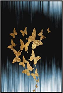 three thousand Modern Abstract Art Poster Butterfly Pattern Animal Canvas Painting Print Picture Home Wall Art Decoration,30x40 cm No Frame,Photo Color1