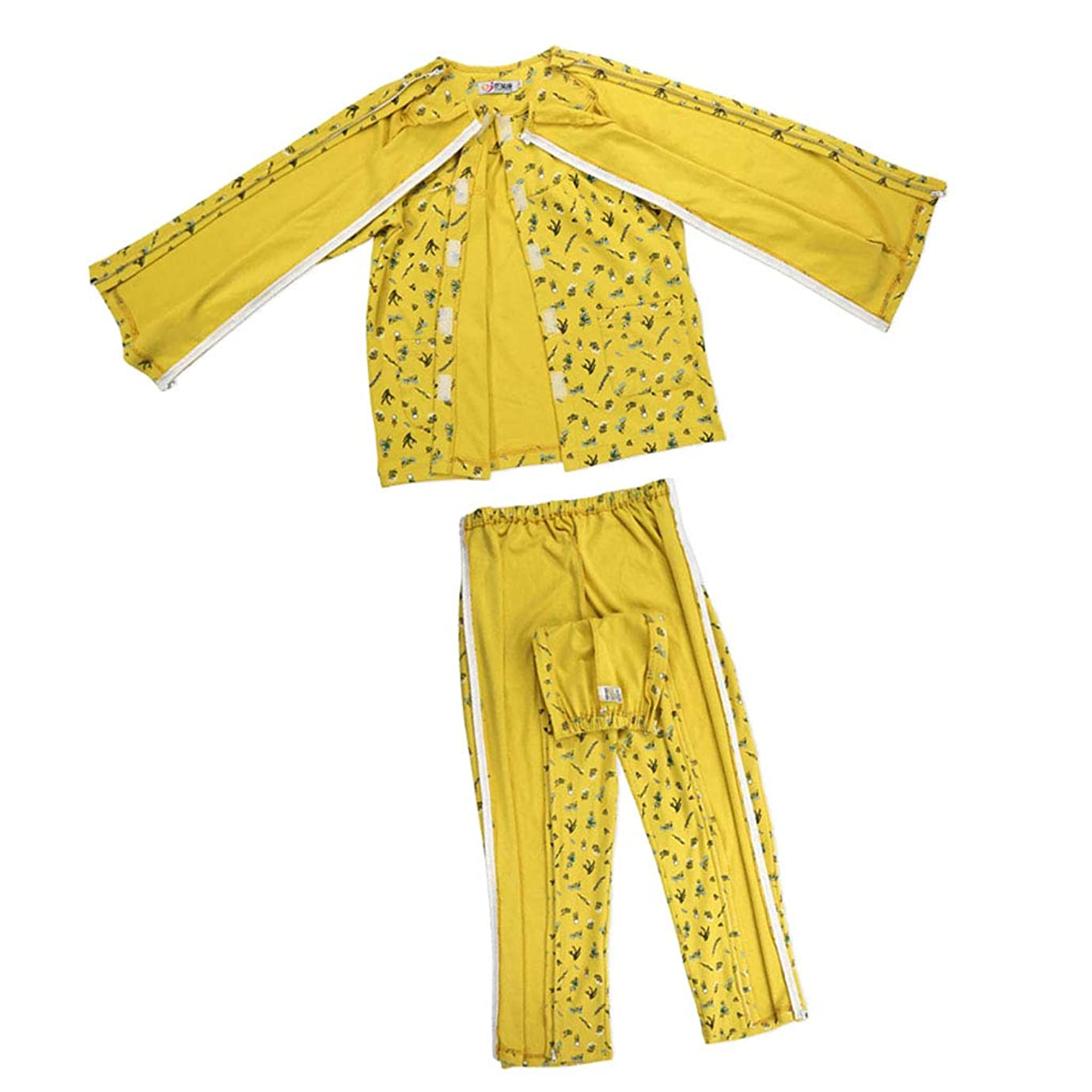スペイン語称賛がっかりするBaoblaze 上下セット 患者服 検診衣 患者衣 ズボン+上衣 パジャマ 綿製 開け設計 通気性 手入れ簡単