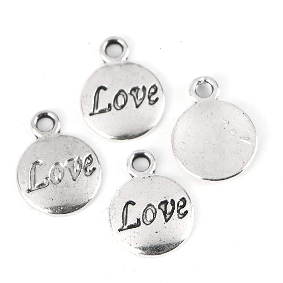 Monrocco 100Pcs Love Message Inspiration DIY Charms Pendant Jewelry Findings for Jewelry Making Necklace Bracelet