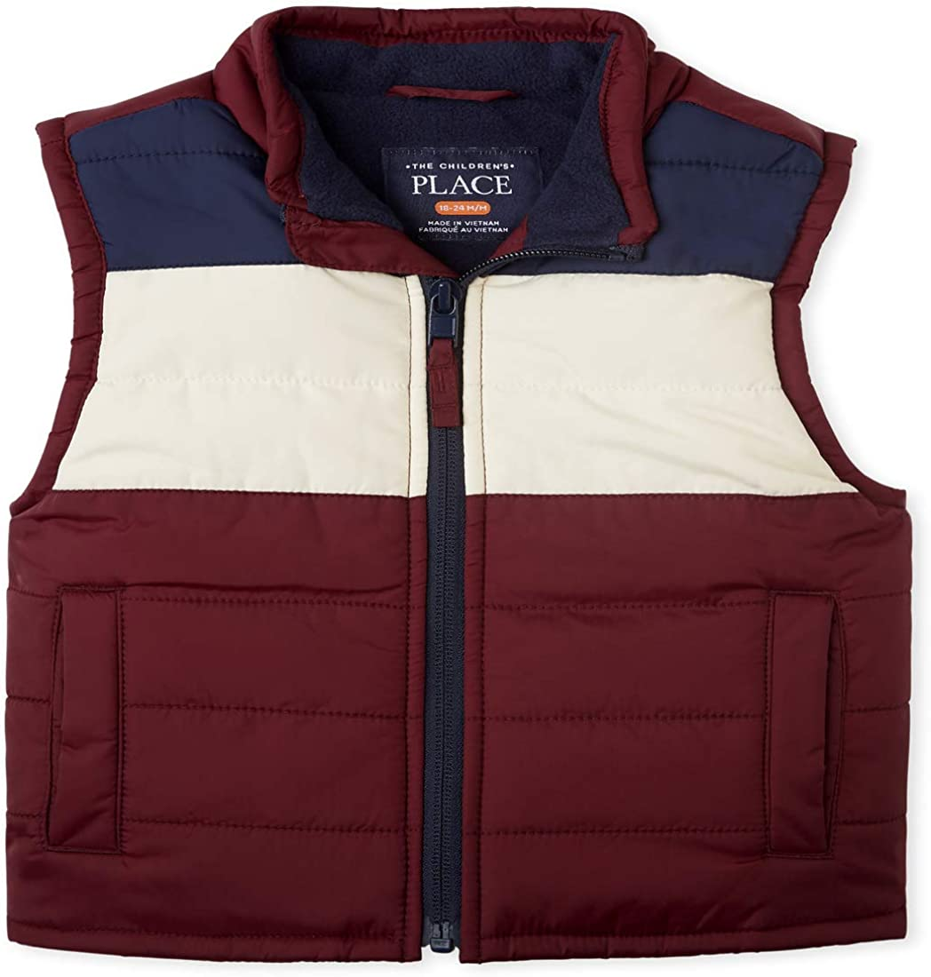 The Childrens Place Boys Toddler Colorblock Puffer Vest