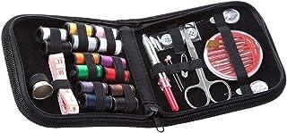 Kit de Costura Negro Costurero 126pcs Accesorios para Viajes y Principiantes y Emergencias