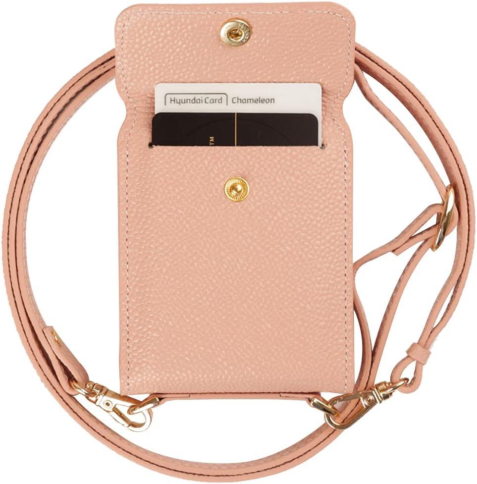 Samsung Galaxy Z Flip 3 Case, Galaxy Z Flip 3 5G, Genuine Leather Wallet Samsung Z Flip 2 Card Case, 3 Credit Card Case Secret Pocket Phone Case Cover for Samsung Galaxy Z Flip 3 - Powder Pink