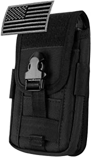 IronSelas AQ Tactical Molle Pouch Vertical Waist Belt Pouch Bag Holster Cover with Pull Tab and Flag Patch for iPhone XSmax//XR//XS//X//8+//7 Samsung S9//S8//Note9//Note8 S10e//S10//S10+