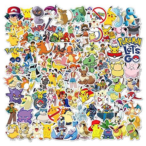 YUNDING character stickers 16PCS Pokemon Stickers Aesthetic Cartoon Anime Graffiti Pegatinas Suitcase Suitcase Guitar Waterproof Naklejki