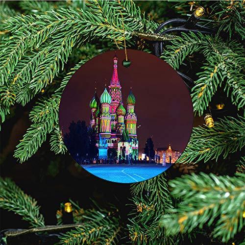 aosup Illuminated St Basil/Christmas Ornaments 2020 Christmas Ceramic Pendant Personalized Creative Christmas Decorations Double Sided Christmas Tree Ornament №SW124464