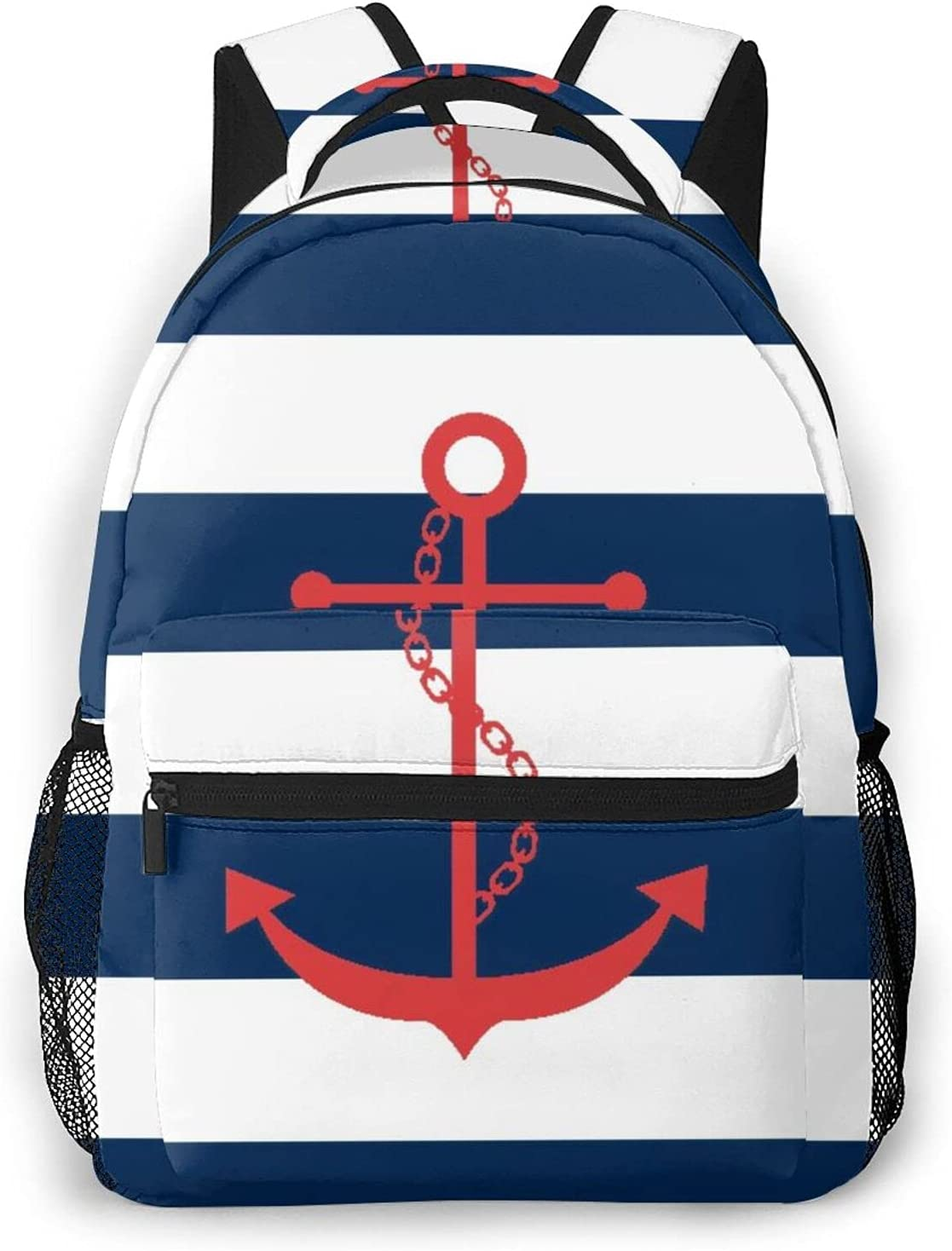 GUVICINIR Everyday Import Online limited product Essentials Backpack NauticalRedAnchorNavy