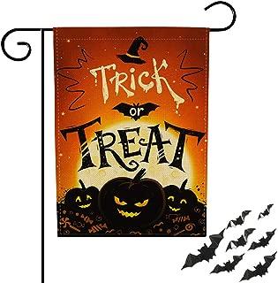 FaCraft Halloween Yard Flag Trick or Treat 12.5x18.5 Double-Sided Happy Halloween Flag