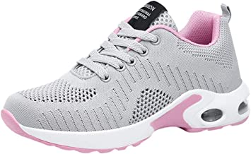 Sinzelimin Women's Casual Breathable Running Shoes Tennis Athletic Jogging Sport Walking Sneakers Gym Fitness Sneakers