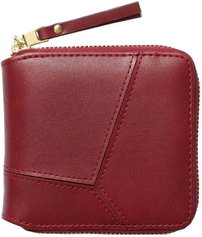 Girls Purse Women's Wallet Lady Purse Simple Car Suture Zipper Wallet Card Bag Wallet (color   F)