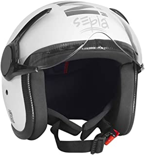 Sepia Muscle Rider Open Face Helmet (Metallic White, M)