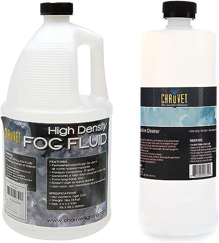 CHAUVET DJ High-Density Fog Machine Fluid - One Gallon | Fog Machines (Packaging May Vary) & Chauvet Fog Machine Cleaner