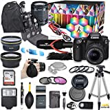 Canon EOS 90D DSLR Camera Deluxe Video Kit with Canon EF-S 18-55mm f/3.5-5.6 is STM Lens + Commander Pro Microphone + SanDisk 32GB SD Memory Card + Commander Optics Accessory Bundle