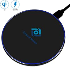 Fortune Nexus Fast Qi Certified Wireless Charger Pad Aluminum Alloy Compatible 7.5W iPhone X/Xs/Xs Max/Xr/8/8 Plus, 10W Samsung Galaxy S10/S10+/S10E S9/S9 Plus/Note 8/S8/S8 Plus All Qi-Enabled Phones,