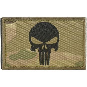 Cobra Tactical Solutions Punisher Skull Parche Bordado Táctico Militar Cinta de Gancho y Lazo de Airsoft Cosplay Para Ropa de Mochila Táctica (Camouflage): Amazon.es: Hogar