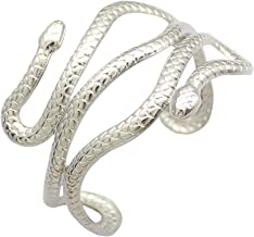 RechicGu Chic Egypt Cleopatra Swirl Snake Arm Cuff Armlet Armband Open Bangle Bracelet