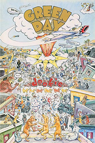 """Green Day Poster: 'Dookie' Large 24""""×36"""" Size. The Perfect Poster Gift. (Toobi Poster)"""