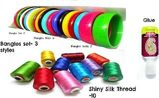 GOELX Silk Thread Bangle Making, Wrapping Learning Kit - Bangle Size 2.6