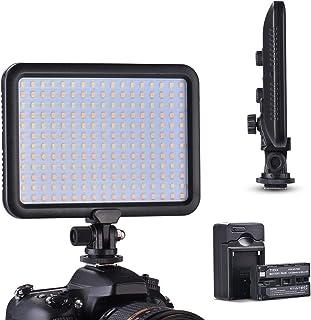 Tycka 2200mAh大容量バッテリー付き 超薄型 204球 LED ビデオライト 3200K-5600K 1300lmステラレス調光可能 長寿命 バッテリーインジケーター スプリットジョイント機能付き 屋内外での撮影に最適 TK204