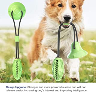 Ezonedeal Dog Molar Bite Toy Interactive Ropes Multifunction Chew Toys for Cleaning Teeth,Self Playing IQ Treat Ball with ...