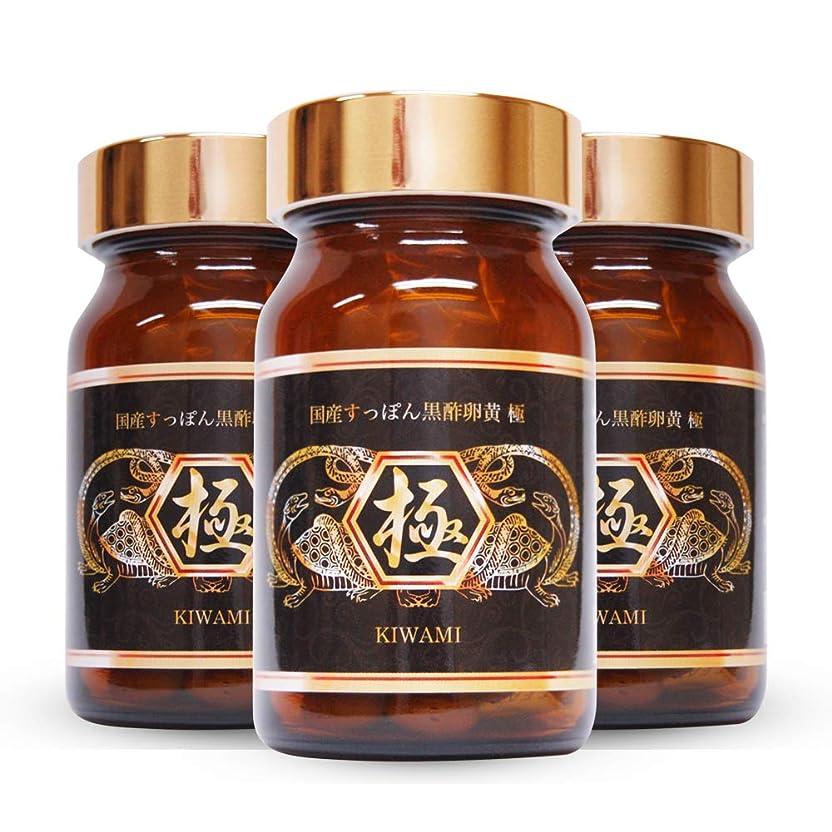 病気の病気の降下国産すっぽん黒酢卵黄 極 3個 (アミノ酸 DHA EPA BCAA ソフトカプセル)