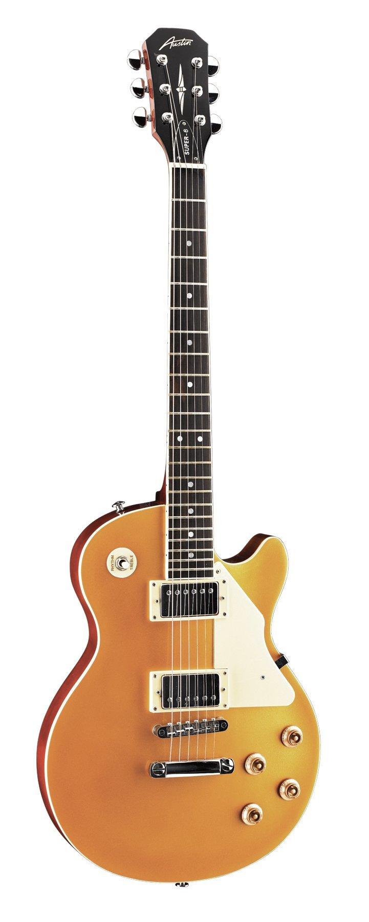 Cheap Austin Guitars AS6PGT Super-6 Series Electric Guitar Black Friday & Cyber Monday 2019