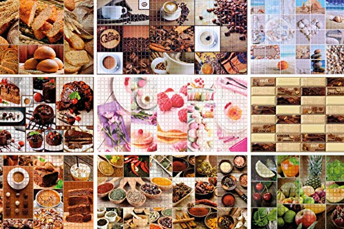 1 PVC Plaque Mosaïque Décor Mural Plaques Mur Lambris 95x48cm, 56359