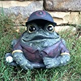 Homestyles Toad Hollow #94065 Figurine Golfer with Golf Club and Ball Sports Character Garden Large Statue Toad Figure Natural Green