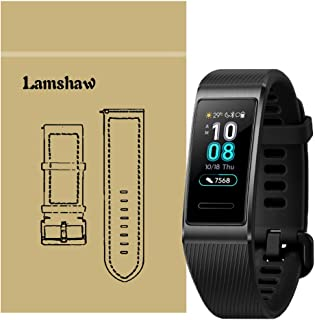 for Huawei Band 3 Pro Band, Lamshaw Classic Silicone Band for Huawei Band 3 Pro Fitness Activity Tracker (Black)