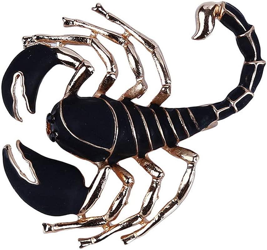 LANWF Animal Brooch Fashion Scorpion Zebra Dragonfly Brooch Creative Clothing Decorative Jewelry Accessories Scorpion
